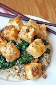 brown sugar-orange tofu