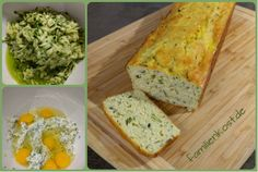 Rezept für ein Low Carb Zucchinibrot ohne Kohlenhydrate. Gesundes glutenfreies Eiweißbrot mit Zucchini, Quark, Mandeln und Ei für die ganze Familie