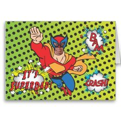 SuperDad Comic Book Hero Photo Insert Card. Too funny!