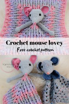 Ideas Crochet Baby Gifts Patterns Granny Squares For 2019 Crochet Baby Toys, Crochet Mouse, Crochet Amigurumi Free Patterns, Crochet Patterns For Beginners, Crochet Blanket Patterns, Baby Blanket Crochet, Knitting Patterns, Crochet Gifts, Crochet Animals