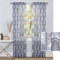 Better Homes and Gardens Medallions Sheer Curtain Panel - Walmart.com