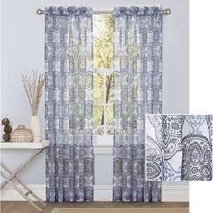 Better Homes and Gardens Medallions Sheer Curtain Panel - Walmart.com