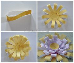 chrysanthemum collage steps