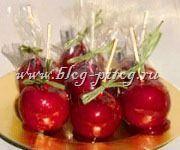 рецепт яблоки в карамели, яблоки в глазури, карамельные яблоки, как сделать яблоки в карамели, как приготовить яблоки в карамели, яблоко в красной карамели
