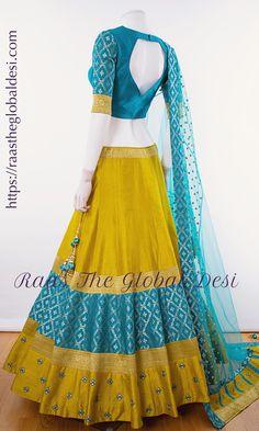 Silk Kurti Designs, Half Saree Designs, Choli Designs, Saree Blouse Designs, Lehenga Designs Simple, Dress Indian Style, Indian Fashion Dresses, Indian Designer Outfits, Indian Outfits