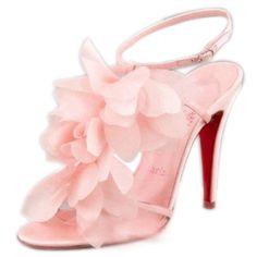 Christian Louboutin  http://www.redbottomsaleonlines.com/christian-louboutin-petal-sandal-pink.html