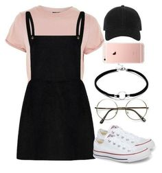 A fashion look from August 2017 featuring Topshop t-shirts, Converse sneakers and rag & bone hats. Browse and shop related looks. Outfits Designer Clothes, Shoes & Bags for Women Teenage Outfits, Cute Outfits For School, Cute Casual Outfits, Teen Fashion Outfits, Mode Outfits, Stylish Outfits, Casual Shoes, Cap Outfits For Women, Army Outfits