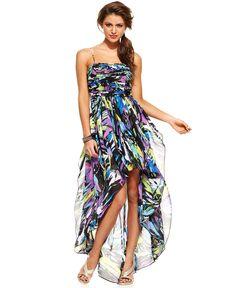 Hailey Logan Dress, Sleeveless Printed Asymmetrical