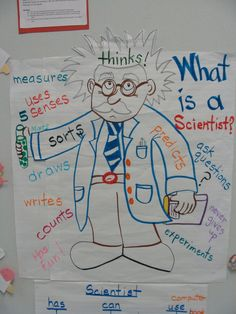 What is a Scientist poster...will have  a mirror on the face.  Want my kids to know that THEY are the scientists!