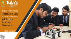 Tula's Institute has India's first remote Robotics Lab in association with APS Labs Aachen, Germany. A perfect course to obtain best technological, manufacturing experience on recent advancements in the field of Automation and Industrial Robotics  #RoboticsLab #Automation #Learning #TulasInstitute #TheTrueYou #Dehradun