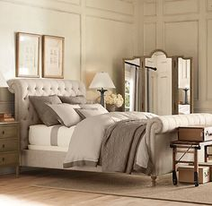 Obsessed with everything about this bed. @Michelle Skinner we have similar taste :)