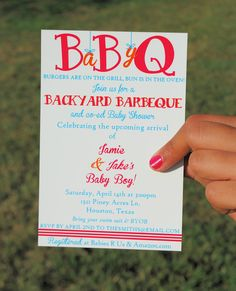 CO-ED BBQ Baby Shower Printable Invitation... LOVE THIS!! It's perfect for us, so the guys don't feel left out and overwhelmed by all the women, lol !