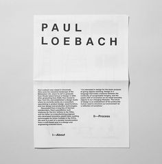 Paul Loebach Identity on Behance