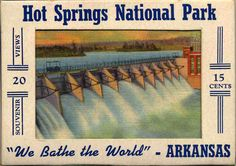 souvenir  containing postcards of hot springs arkansas