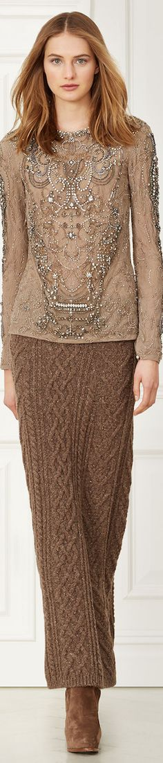RALPH LAUREN CHARLENE BEADED TOP