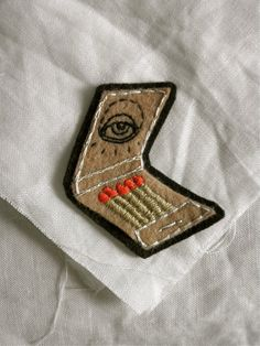 Hand Embroidered Matchbook Patch