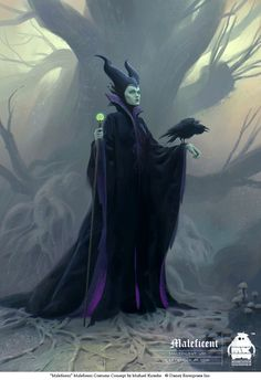 Maleficent is the only thing I remember about Sleeping Beauty. She is such a good villain, and a dragon. So that makes her awesome. Disney Pixar, Animation Disney, Art Disney, Disney Kunst, Disney Villains, Disney Movies, Maleficent Cosplay, Maleficent Halloween, Maleficent Movie