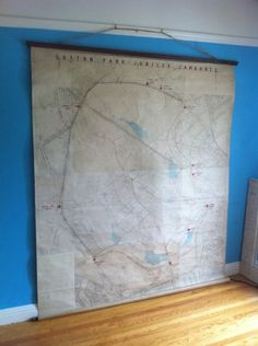 Large 6'x9' Vintage Map of a UK Park C1914 in Duboce Triangle, San Francisco ~ Apartment Therapy Classifieds