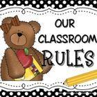 Use these cute bear-themed posters to help reinforce positive classroom behaviors. 9 Posters are included Our Classroom RULES Pay atte. School 2013, Pre School, School Days, Back To School, Classroom Behavior, Classroom Themes, Classroom Management, Teddy Bear Day, Teddy Bears
