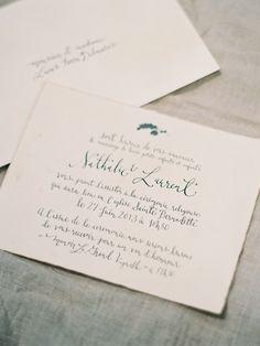 French wedding invitations via oncewed.com