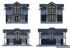 Проект двухэтажного дома с мансардой: чертежи и фото