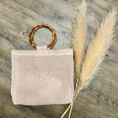 Bianca Bamboo Handled Bag in Natural Leather Tooling, Leather Clutch, Boho Bags, Vintage Leather, Rattan, Purses And Bags, Wallets, Bamboo, Reusable Tote Bags