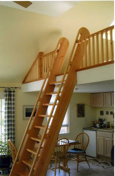 Loft Ladder And Railing By Cannworks, Integrated Handhold Top Detail
