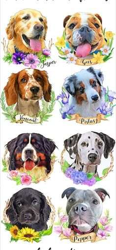 Your Pups deserve to be cherished in the most beautiful ways! These custom dog portrait with flower decoration is the perfect addition to your Rustic style/ Farmhouse decor and also makes the perfect housewarming gift for your dog lover friends and family Dog Mom Gifts, Dog Lover Gifts, Dog Lovers, Custom Dog Portraits, Pet Portraits, Dog Tattoos, Animal Tattoos, Dog Portrait Tattoo, Dog Memorial Tattoos