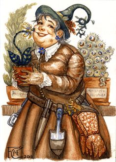 Professor Sprout Sketch by http://feliciacano.deviantart.com/art/Professor-Sprout-Sketch-277830394