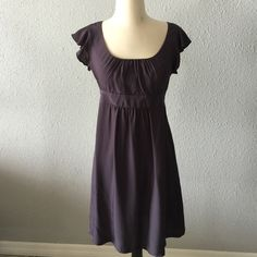 Topshop navy blue dress In great condition! Knee length and fits like a size small Topshop Dresses Midi