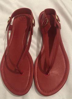 60b3a1d08451 Tory Burch Womens Minnie Thong Sandals Nantucket Red for sale online