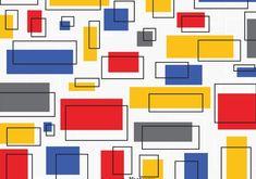 Vintage Mondrian Bauhaus Design art print from Wallasso.Blending high-quality art with affordability, our prints are. Design Bauhaus, Bauhaus Art, Bauhaus Style, Bauhaus Logo, Bauhaus Colors, Mondrian Kunst, Bauhaus Textiles, Canvas Prints, Framed Prints
