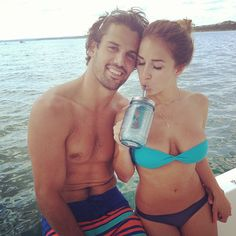 Eric Decker and his wife Jessie James. Probably one of the most attractive couples I have ever seen. Ridiculous.