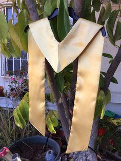 Photo Prop, Graduation Stole, Gold Satin Stole, PHOTO Prop, Choir or Clergy Stole Graduation #Mis2Manos
