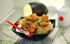 Chinese Steamed Eggplant with Shrmp Stir Fry www.fooddonelight.com