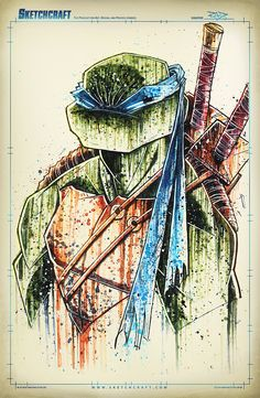 TMNT Saucy Leo by RobDuenas.deviantart.com on @deviantART