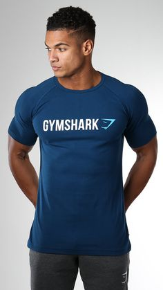 The classic Apollo t-shirt has returned. Now available in six stand out colours. The Gymshark Atlantic Blue Apollo T-Shirt is a statement design with a relaxed fit.