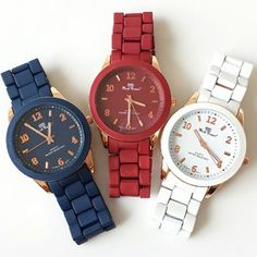 Soft Matte Color Metal Watch