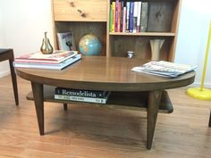 Oval Mid Century Modern Inspired Coffee Table by STORnewyork, $650.00