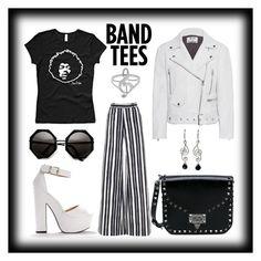 """Band tees"" by italianspanishwoman on Polyvore featuring moda, Martin Grant, Acne Studios, NOVICA y Valentino"