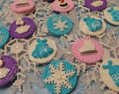 FONDANT Mixed Frozen TOPPERS - Edible Frozen cupcake toppers or cake decorations Great for any age. Choose your favorite and get a mixed set