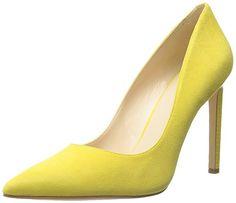 Nine West Women's Tatiana Leather Dress Pump, Yellow Sued-$148.00