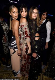 Kendall Jenner flashes her toned abs in a skimpy bralet before upping the glamour in a floral gown for NYFW | Daily Mail Online
