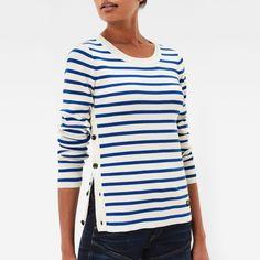 Iria Stripe Slim Knit Pullover