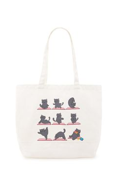 9d693388d77e Yoga Cat Graphic Tote Bag Cat Bag