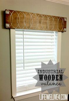 DIY Wood Valance An Easy Inexpensive Window Treatment