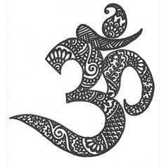 love the henna look Ohm Tattoo, Tatoo Art, Ohm Symbol Tattoos, Namaste Tattoo, Hamsa Tattoo, Mehndi Tattoo, Henna Tattoos, Yoga Tattoos, Cute Tattoos