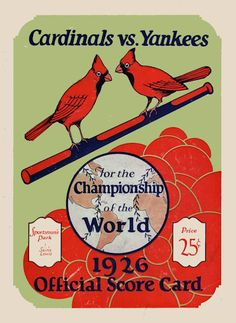 1926 WORLD SERIES St Louis Cardinals vs New York Yankees