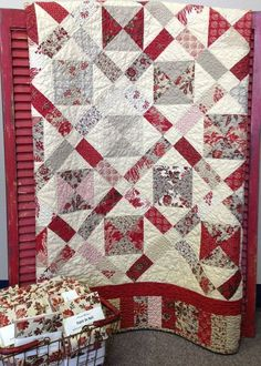 French General fabrics Petite Four Quilt Kit by myreddoordesigns, by hope54
