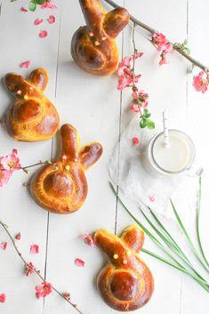 Saffron brioche bunnies